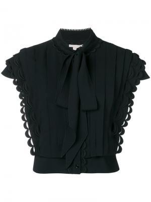 Pussy bow pleat front blouse Antonio Berardi. Цвет: черный