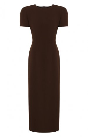 Платье-миди Dries Van Noten. Цвет: коричневый