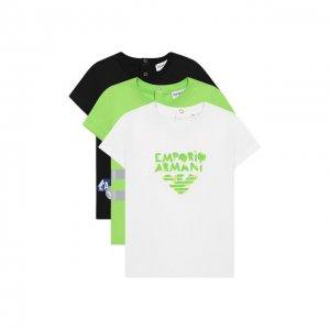 Комплект из 3-х футболок Emporio Armani. Цвет: разноцветный
