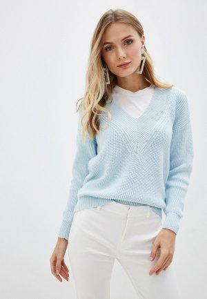 Пуловер Lezzarine. Цвет: бирюзовый