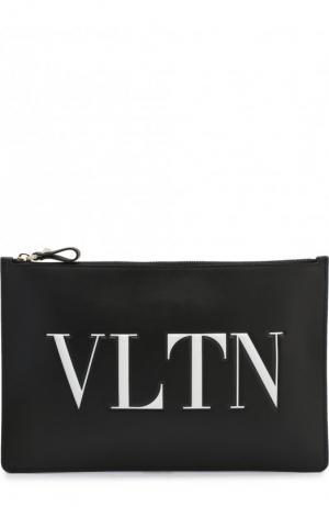 Кожаная папка на молнии Garavani VLTN Valentino. Цвет: чёрно-белый