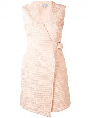 Расклешенное платье с запахом Carven. Цвет: розовый
