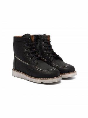 Массивные ботинки на шнуровке Pèpè. Цвет: черный
