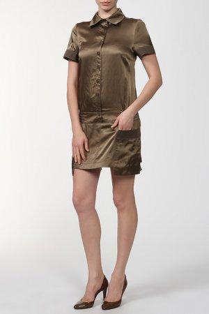 Платье оливковое AP. Цвет: none