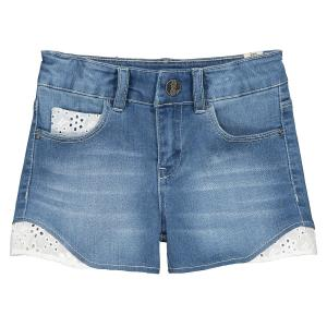 Шорты джинсовые с английской вышивкой 4-14 лет IKKS JUNIOR. Цвет: синий