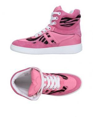 Высокие кеды и кроссовки KATIE GRAND LOVES HOGAN. Цвет: розовый