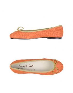 Балетки FRENCH SOLE. Цвет: оранжевый
