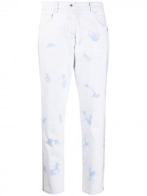 Декорированные джинсы бойфренды с завышенной талией Patrizia Pepe. Цвет: синий