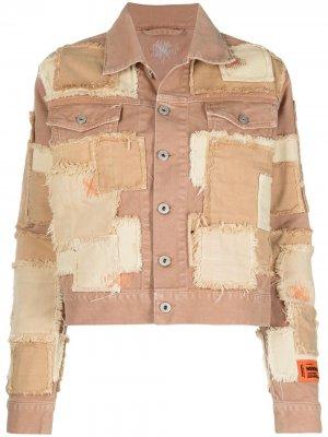 Джинсовая куртка в технике пэчворк Heron Preston. Цвет: нейтральные цвета