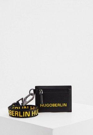 Кредитница Hugo B_Neck wallet. Цвет: черный