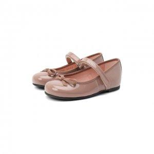 Кожаные балетки Pretty Ballerinas. Цвет: бежевый