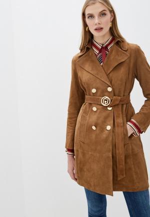 Куртка кожаная Liu Jo. Цвет: коричневый