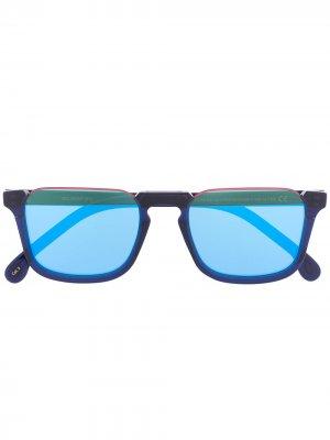 Солнцезащитные очки Belmont в прямоугольной оправе Paul Smith. Цвет: синий