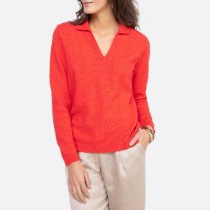 Пуловер La Redoute. Цвет: оранжевый