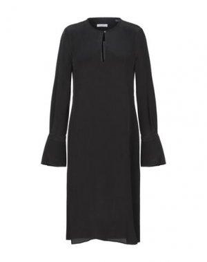 Платье до колена EQUIPMENT. Цвет: черный