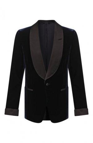 Пиджак из вискозы Tom Ford. Цвет: синий