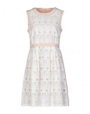 Короткое платье BONSUI. Цвет: песочный