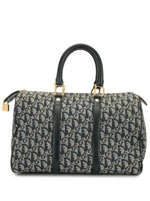 Дорожная сумка Boston pre-owned с узором Trotter Christian Dior. Цвет: синий