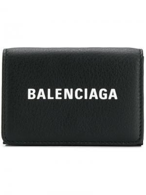Мини-визитница Everyday Balenciaga. Цвет: черный