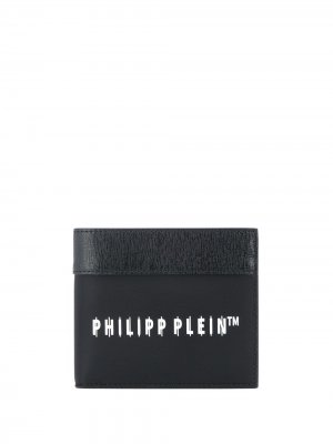 Бумажник с логотипом Philipp Plein. Цвет: черный