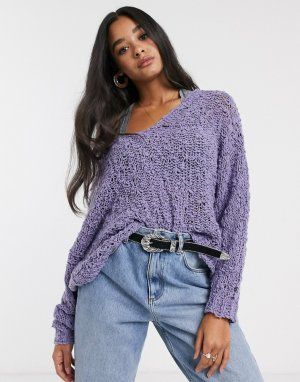 Пуловер -Фиолетовый Free People