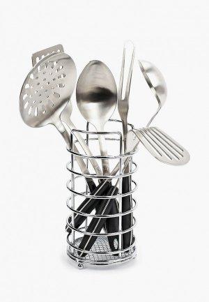 Набор кухонных инструментов Taller. Цвет: серебряный