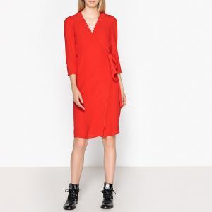 Платье с запахом COPPER BA&SH. Цвет: красный