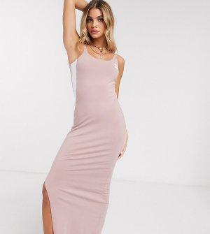 Платье с глубоким вырезом на спине и разрезом эксклюзивно для ASOS-Розовый Puma
