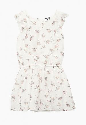 Платье 3 Pommes PO013EGZRT44. Цвет: белый
