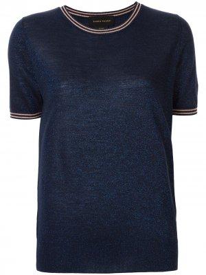 Трикотажная футболка Apollo Karen Walker. Цвет: синий