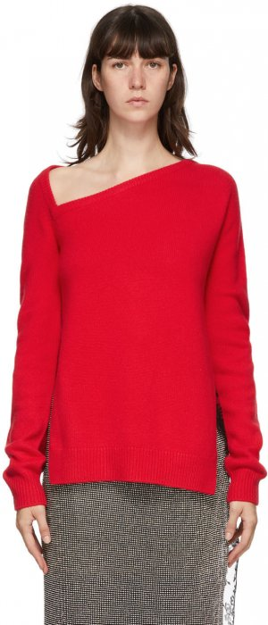 Red Wool & Cashmere Sweater Christopher Kane. Цвет: red