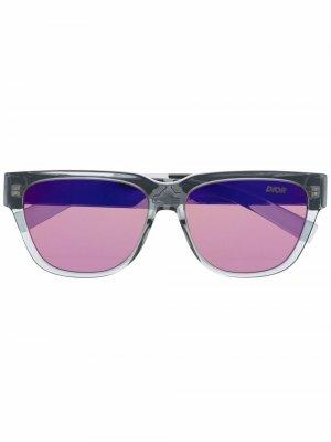 Солнцезащитные очки Diorxtrem в прямоугольной оправе Dior Eyewear. Цвет: серый
