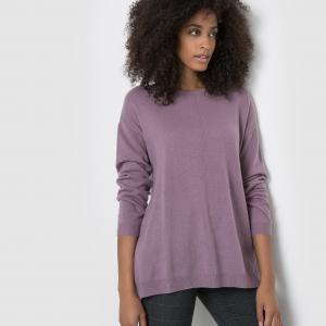 Пуловер из кашемира, свободный покрой La Redoute Collections. Цвет: сине-серый