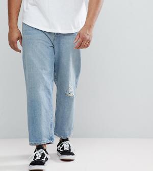 Голубые джинсы в винтажном стиле ASOS PLUS DESIGN