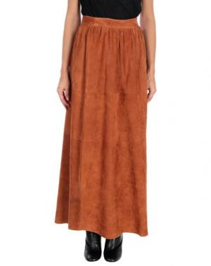 Длинная юбка ENES. Цвет: коричневый