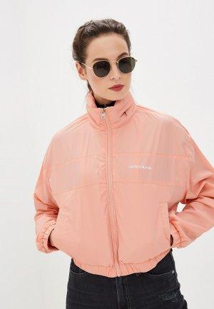 Ветровка Calvin Klein Jeans. Цвет: розовый