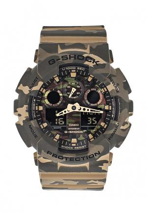 Часы Casio G-SHOCK GA-100CM-5A. Цвет: хаки
