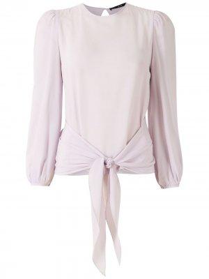 Блузка с завязками на талии Eva. Цвет: фиолетовый
