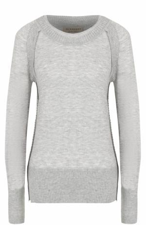 Кашемировый пуловер прямого кроя Burberry. Цвет: серый