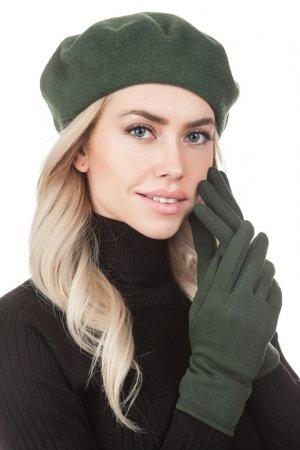 Комплект: берет, перчатки Tonak. Цвет: зеленый