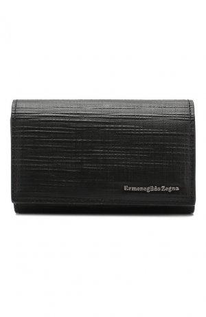 Кожаный футляр для ключей Ermenegildo Zegna. Цвет: черный