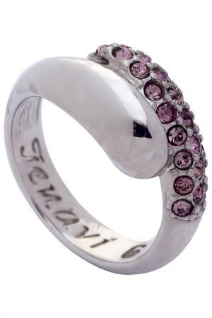 Кольцо Jenavi. Цвет: серебряный, розовый