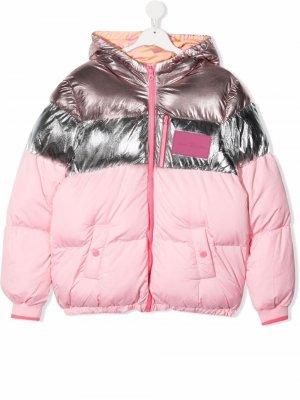 TEEN metallic puffer coat The Marc Jacobs Kids. Цвет: розовый
