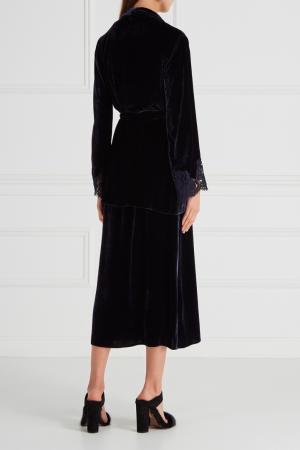 Бархатный костюм с юбкой Ermanno Scervino. Цвет: черный