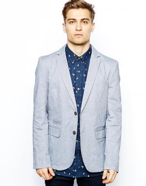 Куртка-блейзер Oxford French Connection. Цвет: синий