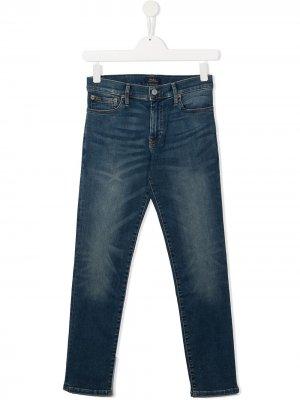 Прямые джинсы средней посадки Polo Ralph Lauren. Цвет: синий