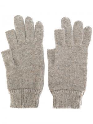 Перчатки с открытыми пальцами Rick Owens. Цвет: телесный