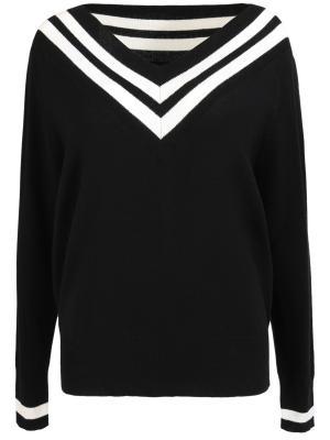 Шерстяной пуловер Kendall+Kylie. Цвет: черный