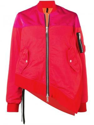 Панельная куртка-бомбер асимметричного кроя Unravel Project