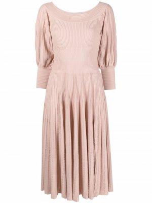 Трикотажное платье миди Antonino Valenti. Цвет: розовый